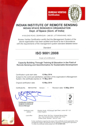 iso | welcome to indian institute of remote sensing (iirs)