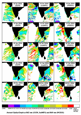 Mapping Aerosol Optical Depth using IRS-P4 OCM and SeaWiFS Data.